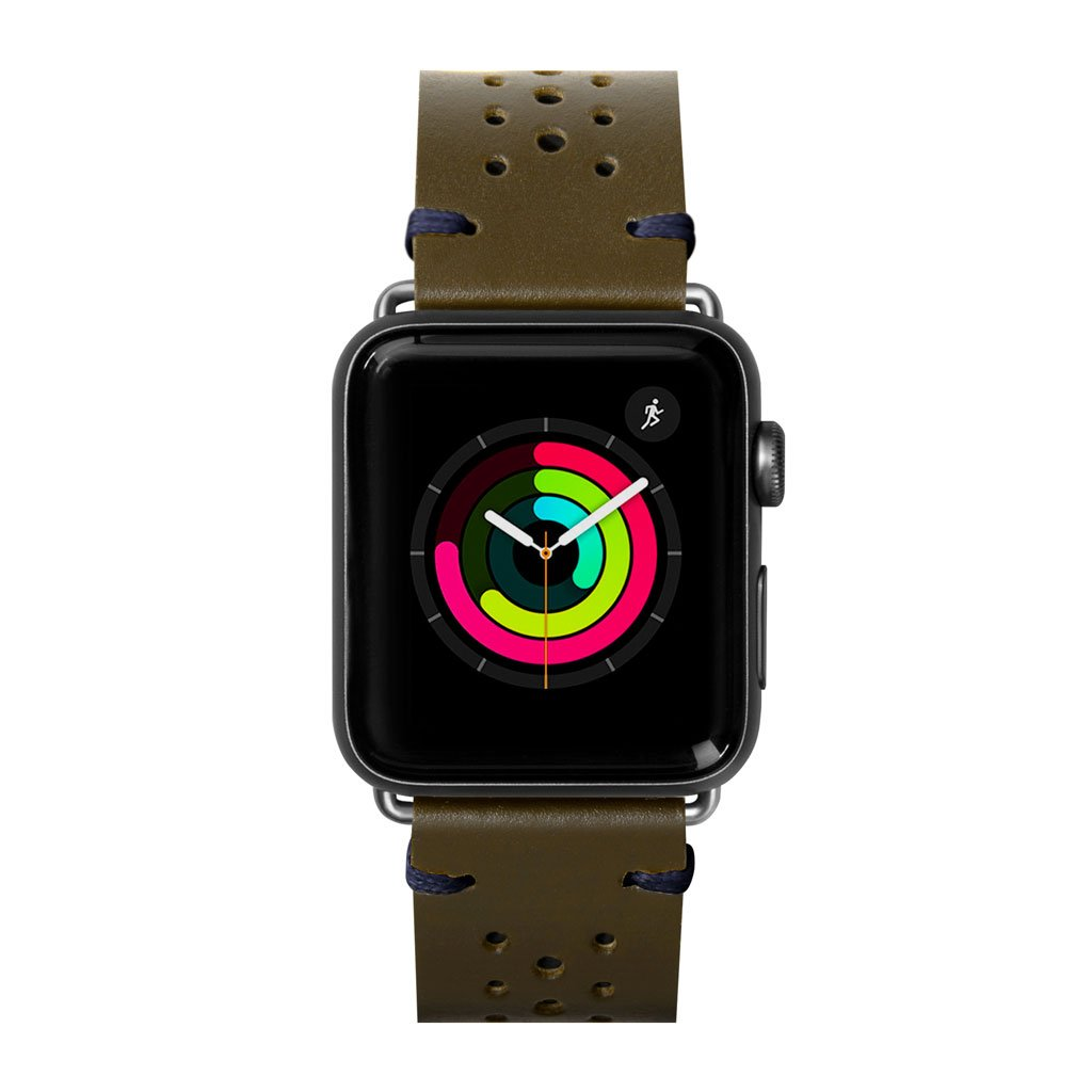 Dây đeo Apple Watch LAUT Heritage Olive
